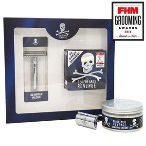 Afbeelding van NIEUW: The Bluebeards Revenge Shaving Cream & Scimitar Razor Kit